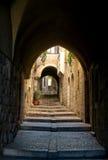 Jerusalén, un callejón en el cuarto judío Imagen de archivo libre de regalías