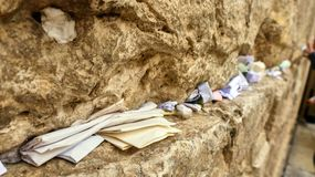 Jerusalén vieja, la pared de rasgones foto de archivo libre de regalías