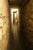 Jerusale del túnel del templer del caballero Imágenes de archivo libres de regalías