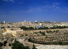 JERUSALEM. View of city of Jerusalem from Mount Olives Stock Images