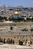 Jerusalem. View of Jerusalem and The Dome of the Rock on the Temple Mount from the mount of Olives, Israel Stock Image