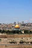 Jerusalem. View of Jerusalem and The Dome of the Rock on the Temple Mount from the mount of Olives, Israel Royalty Free Stock Photography
