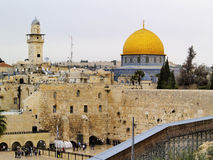 Jerusalem. Wailing Wall and Al Aqsa Mosque in Israel Royalty Free Stock Photo