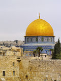 Jerusalem. Wailing Wall and Al Aqsa Mosque in Israel Royalty Free Stock Image