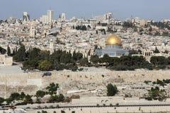 Jerusalem. Cityscape Jerusalem from the Mount of olives Stock Photo