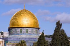 Jerusalem 3. Landscape of Jerusalem, Israel with the golden dome mosque Stock Image