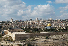 Jerusalem. The mosque of Al-Aqsa and the Dome of the rock Stock Photo