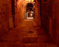 Jerusalem Alley. An alley in the old city in Jerusalem, Israel royalty free stock images