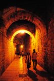 Jerusalem Alley at night Stock Image