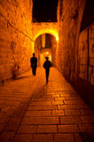 Jerusalem Alley at night Royalty Free Stock Photos