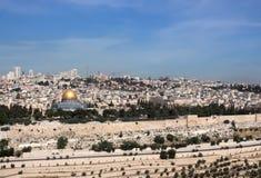 Jerusalem alt Ansicht vom Tempelberg Stockfotografie