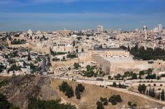 Jerusalem alt Ansicht vom Tempelberg Stockfotos