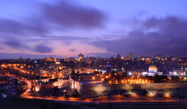 Jerusalem-alte Stadt-Skyline Lizenzfreies Stockbild