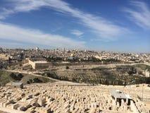 jerusalem Alte Stadt von der Beobachtungsstelle Stockfotos
