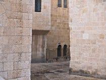 Jerusalem-alte Stadthäuser Stockbilder