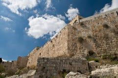 Jerusalem-alte Wände Stockbild