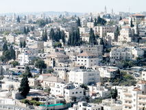 Jerusalem-Ansicht vom Skopus 2010 Stockbild