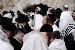 The Kotel - Israel. JERUSALEM - APRIL 07: Orthodox Jewish Pray at the Western Wall during the Jewish holiday of Passover on April 07 2008 in Jerusalem,Israel Royalty Free Stock Image