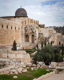 The Jerusalem Archeological Park. Architecture and buildings Royalty Free Stock Photo