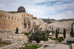 The Jerusalem Archeological Park. Architecture and buildings royalty free stock photography