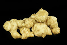 Jerusalem artichoke. S on black background Stock Image