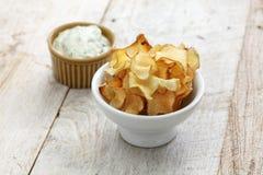 Jerusalem artichoke chips Royalty Free Stock Photo
