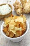 Jerusalem artichoke chips Royalty Free Stock Image