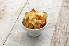 Jerusalem artichoke chips Stock Image