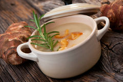 Jerusalem artichoke soup Royalty Free Stock Images