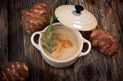 Jerusalem artichoke soup Stock Image