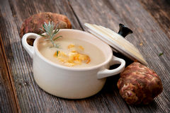 Jerusalem artichoke soup Stock Photo