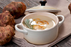 Jerusalem artichoke soup Royalty Free Stock Photography