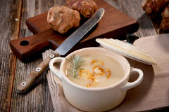 Jerusalem artichoke soup Stock Images