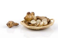 Jerusalem artichoke , sunchoke (Helianthus tuberosus) Stock Image