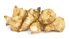 Jerusalem artichoke sunroot sunchoke tuber Royalty Free Stock Images