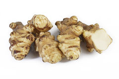 Jerusalem artichoke on white Royalty Free Stock Photos