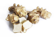 Jerusalem artichoke on white Royalty Free Stock Photo