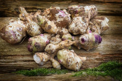 Jerusalem artichokes Royalty Free Stock Photos