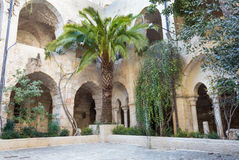 Jerusalem - The atrium of The Church of the Redeemer. JERUSALEM, ISRAEL - MARCH 5, 2015: The atrium of The Church of the Redeemer Royalty Free Stock Images