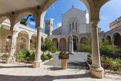 Jerusalem - The atrium of st. Stephens church Stock Photo