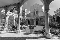 Jerusalem - The atrium of st. Stephens church Stock Photography