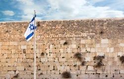 jerusalem att jämra sig vägg Arkivfoto