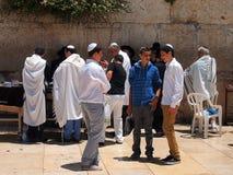 jerusalem att jämra sig vägg royaltyfri foto