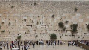 jerusalem att jämra sig vägg gammal town stock video