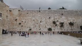jerusalem att jämra sig vägg gammal town arkivfilmer