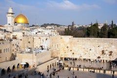 Jerusalem - att jämra sig vägg Arkivbild