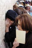 The Western Wall - Israel. JERUSALEM - AUG 04: Jewish women pray at the women side of the Western Wall on August 04 2007.Since the Six Day War (June, 1967), the Stock Image