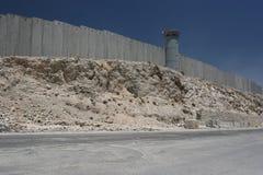 jerusalem avskiljandevägg Arkivbild
