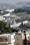 jerusalem avskiljandevägg Arkivbilder