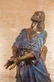 Jerusalem - bronsstatyn av Servus Domini (tjänaren av Herren) eller (fängslade Jesus) Royaltyfria Foton